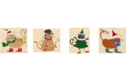 Рождественские подарки с машинной вышивкой