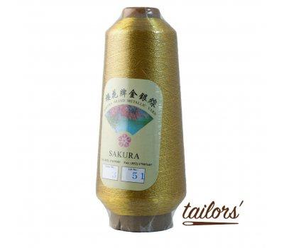 Нить металлизированная вышивальная Sakura sak-3 золото